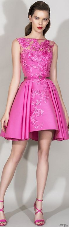 """OH SO PRETTY IN HOT PINK dress - Zuhair Murad Resort 2016...reminiscent of """"Pretty in Pink"""""""