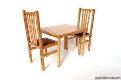 1/6 scale Miniature Handmade Dining set Mission Chairs and Table for playscale dolls (Blythe, Barbie, BJD, Pullip, Obitsu, Momoko)