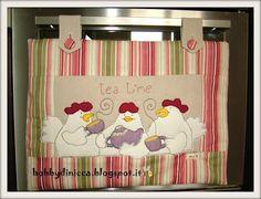 Spiegazioni e cartamodello per cucire un pannello copriforno in stoffa.
