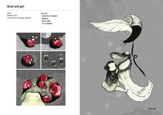 snail flower by hana jang, via Behance