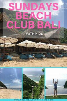 Beach clubs in Bali are a fantastic day out and we review Sundays Beach Club Bali with our kids. Tips on how to save money, what to take and more. #baliwithkids #uluwatu #beachclubbali Thailand Travel Guide, Bali Travel, Bali Family Holidays, Bali With Kids, Sanur Bali, Kids Things To Do, Toddler Travel, Beach Kids, Beach Club