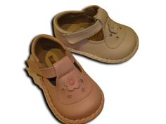 blue farm baby leather shoes