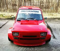 Fiat with a Turbo Inline-Four Fiat 126, Plane Engine, Engine Swap, Fiat Abarth, Inline, Planes, Classic Cars, Wheels, Engineering