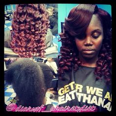 Traditional sew in/wand curls/custom color