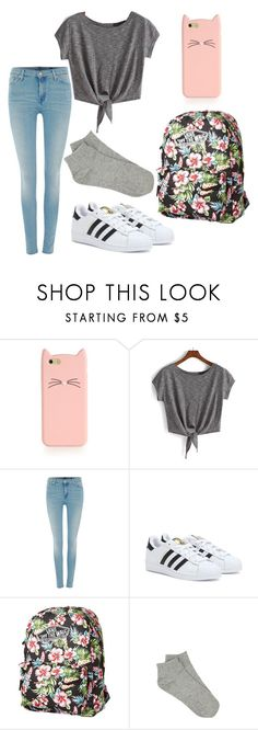 """school"" by naylaputri ❤ liked on Polyvore featuring Kate Spade, 7 For All Mankind, adidas and Vans"
