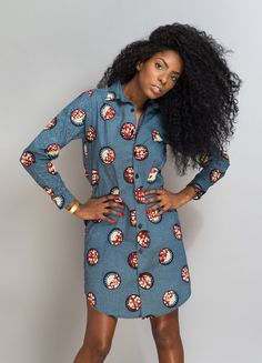 Curly Hair Natural Look with Frontal African Inspired Fashion, African Dresses For Women, African Print Dresses, African Print Fashion, Africa Fashion, African Attire, African Wear, African Fashion Dresses, Ethnic Fashion