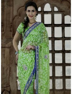 Buy  Admirable Brasso Net Saree Online. http://www.bharatplaza.com/new-arrivals/sarees.html