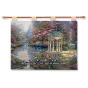 The Garden of Prayer Wall Tapestry found at Prayer Wall, Wall Tapestry, Duvet Covers, Homeschool, Prayers, Bible, Christian, Garden, Gifts