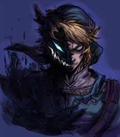 The Legend Of Zelda 52917364350538796 - Fearsome Link by Source by zeldanet The Legend Of Zelda, Legend Of Zelda Breath, Link Zelda, Creepypasta Anime, Zelda Tattoo, Zelda Twilight Princess, Link Art, Breath Of The Wild, Wind Waker
