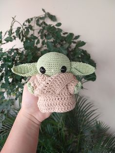 Toys Patterns free baby dolls The Best Yoda & Baby Yoda Patterns For Makers Who Knit! Hats, Stockings, Amigurumi and More … Toys Patterns free baby dolls The Best Yoda & Baby Yoda Patterns For Makers Who Knit! Hats, Stockings, Amigurumi and More … Crochet Pattern Free, Crochet Patterns Amigurumi, Cute Crochet, Crochet Crafts, Crochet Dolls, Crochet Projects, Amigurumi Doll, Crochet Ideas, Diy Crafts