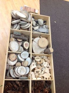 Organizing Loose Parts - storage between our Nature Area and our Building Area.