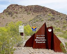 Phoenix Mountains Preserve - Piestewa Entrance sign, via Flickr.