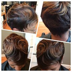 @Celebrad.Hair is an expert at doing full sew ins on short hair, no matter the length. When I first saw this I thought it was a chic pixie cut, but was blown away to learn it was actually a full sewn! ✂️========================== Go to VoiceOfHair.com ========================= Find hairstyles and hair tips! ========================= #HoustonStylist #VoiceOfHair #VOH