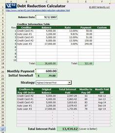 debt snowball free printable worksheet, free printable debt snowball worksheet | Saving for the ...
