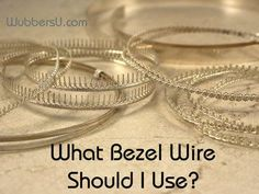 Jewelry Making QA with Lexi Erickson: What Bezel Wire Should I Use?