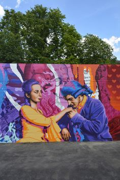 3Steps | Werther Mural | Die Leiden des Jungen Werthers | The Sorrows of Young Werther | Goethe | mural | urban art | streetart | Art | Kunst | culture | novel | Klassiker | Wand | Wetzlar | Germany | 2015 Mural Art, Murals, Leiden, Graffiti, Novels, Germany, Culture, Urban, Play