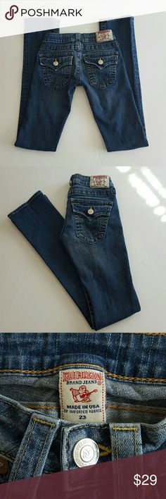 """True Religion Billy Jeans Approximately 6 1/4 rise,  33"""" inseam, 6 1/2"""" leg opening True Religion Jeans"""