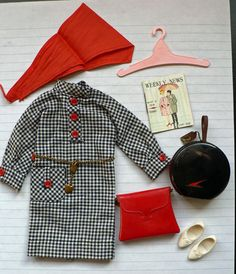 "Tammy Doll gingham outfit ""Travel Along"""
