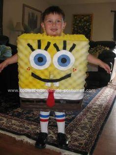 Homemade Spongebob Squarepants Halloween Costume: My 3-year old son is obsessed with Spongebob, so I decided to make him a Homemade Spongebob Squarepants Halloween Costume this year.  What possessed me,