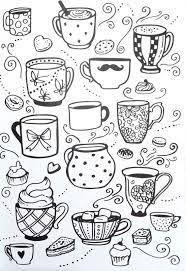 Résultats de recherche d'images pour «tea cups coloring pages adults»