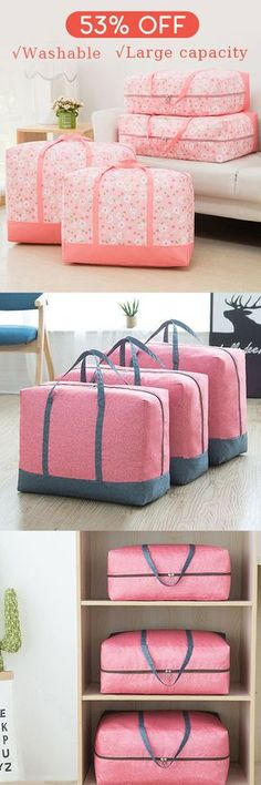 Washable Portable Oxford Clothes Quilts Storage Bags Folding Organizer Storage Container#newchic#storage#organization#ravel