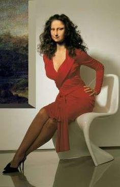 "IF Mona L were sexy ""Mona Lisa Rossa"" by Alberto Rossi (italy) Monnalisa Kids, Lisa Gherardini, Photomontage, La Madone, Mona Lisa Parody, Mona Lisa Smile, Mona Friends, Italian Artist, Cultura Pop"