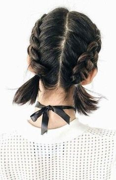 Two French Braid Hairstyles In 2020 30 Best French Braid Short Hair Ideas 2019 French Braid Short Hair, Two French Braids, French Braid Hairstyles, Braids For Short Hair, Box Braids Hairstyles, Pretty Hairstyles, Short Hair Cuts, Hairstyle Ideas, Hairstyles 2018