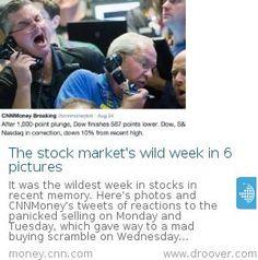 #stockmarket #stockmarketcrash The stock market's wild week in 6 pictures