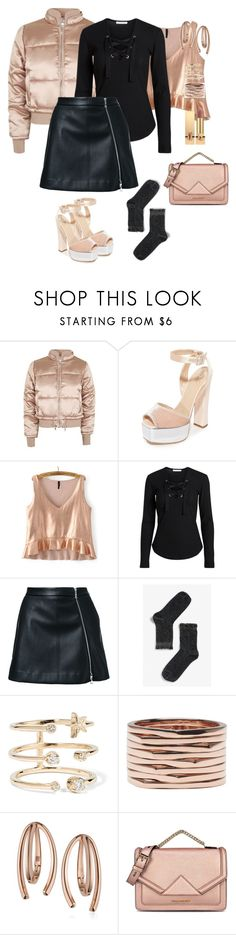 """""""#pufferjacket"""" by pana-canaj ❤ liked on Polyvore featuring Topshop, Giuseppe Zanotti, Guild Prime, Monki, Andrea Fohrman, Repossi, Bea Bongiasca, Karl Lagerfeld, Yves Saint Laurent and pufferjacket"""