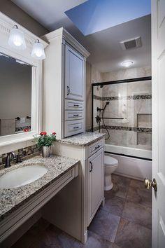 A Beautiful Ann Arbor Small Bathroom Remodel Featuring Onyx