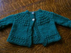 Wool Alpaca Roving Knitted Baby Sweater Set And Crocheted