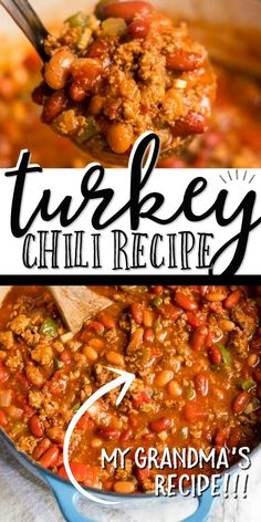 Factors You Need To Give Thought To When Selecting A Saucepan This Healthy Turkey Chili Recipe Is A One-Pot Meal Game Changer And Its Delicious Theres Something Nostalgic About A Big Hearty Bowl Of Turkey Chili. Growing Up, My Mom Always Preferred To Cook Healthy Chili, Chilli Recipes, Cooking Recipes, Healthy Recipes, Crockpot Recipes, Keto, One Pot Meals, Turkey Chili Beans Recipe, Big Chili Recipe