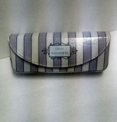 LULU GUINNESS glasses hard case with a mirror inside, Lavender and White  #LuluLuluGuiness