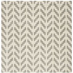Safavieh Handmade Cambridge Grey/ Ivory Wool Rug (6' Square) - Overstock Shopping - Great Deals on Safavieh Round/Oval/Square