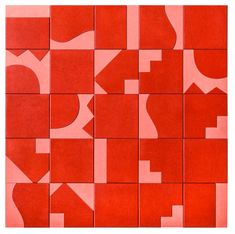 / Renata Rubim + Oca Brasil, series of wooden tiles inspired by Burle Marx and the Modernist period of Brazilian design history Pattern Texture, Surface Pattern, Surface Design, Red Pattern, Tile Patterns, Textures Patterns, Print Patterns, Tile Design, Pattern Design