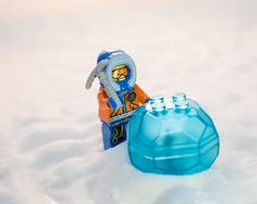 LEGO CITY Arctic Snowmobile and the ice boulder