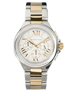 Michael Kors Silver & Gold Chronograph Watch. So I'll never have to clash with silver or gold jewelry.