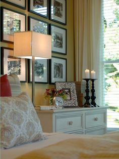 Choose accessories with differing heights, which will allow the eye to move around the display rather than glossing past it. Artwork on the wall also acts as part of your vignette, so keep it in mind when arranging your accessories.