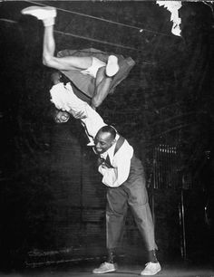 Ann Johnson and Frankie Manning dancing the Congeroo at the Savoy Ballroom in Harlem. Photograph by W. Eugene Smith. New York City, May 1941.