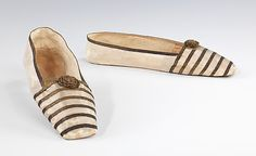 Evening slippers by Gundry & sons, British, 1840-1850