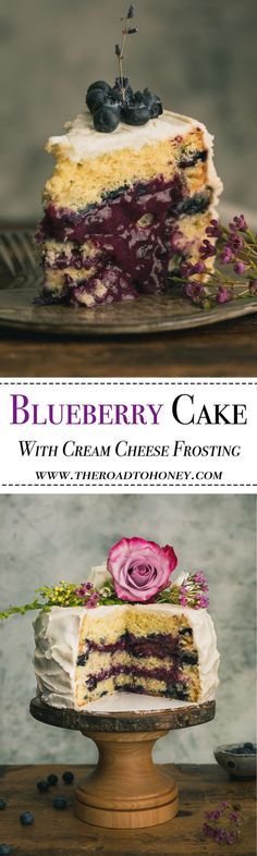 This Lavender Blueberry Cake is loaded with fresh blueberries, a silky blueberry curd & tangy blueberry sauce. The perfect ending for summer days.