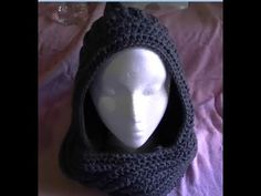 ▶ How to crochet a Easy Scoodie Part 1 of 2 Scarf/Hoodie - YouTube