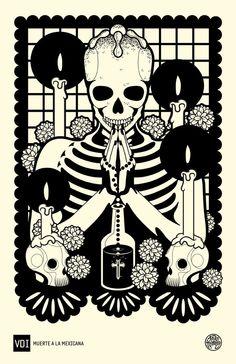 DÍA DE MUERTOS by Tavo Montañez i like the skull candels