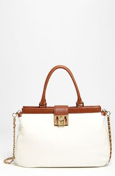 white and tan leather for summer.. one of my favorite color combos