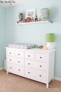 Image from http://www.twotwentyone.net/wp-content/uploads/2014/10/ikea-dresser-nursery.jpg.