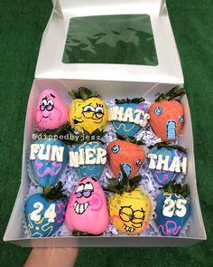 Spongebob Chocolate, Chocolate Pinata, Chocolate Gifts, Spongebob Birthday Party, Birthday Party For Teens, Chocolate Covered Treats, Chocolate Dipped Strawberries, Creative Desserts, Fun Desserts
