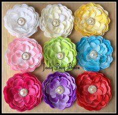 Flower Headband, Flower Hair Clip, Flower Barrette, Floral Hair Piece, Pearl Flower Headband, Lace Flower Headband, Girls Hair Flower by JadyBugBows on Etsy