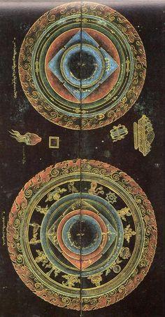 Secret Visions of the Fifth Dalai Lama Tibetan Mandala, Tibetan Art, Tibetan Buddhism, Tantra, Glass Bead Game, Tarot, Sacred Art, Illuminated Manuscript, Fractal Art