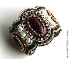 Результат Изображение для бисера вышивка колье: #embroiderybracelets