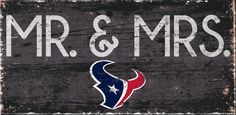 "Houston Texans Mr. & Mrs. 6""x12"" Sign"